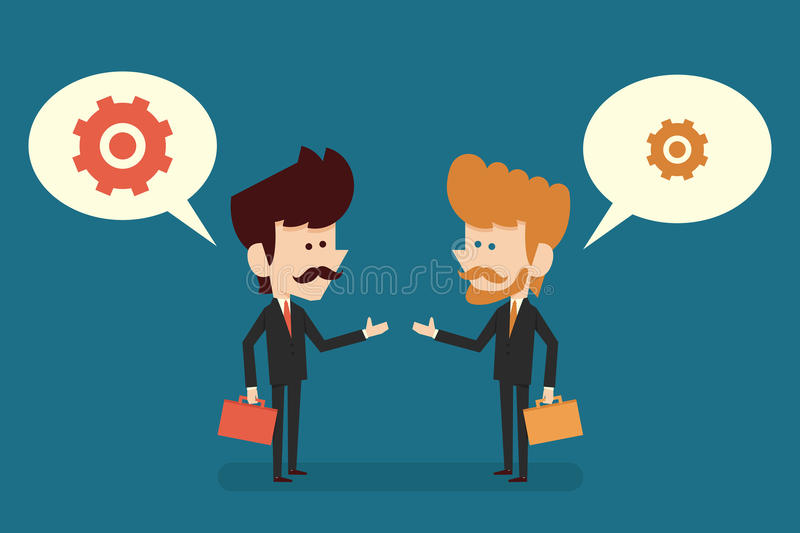 Cooperation concept. Businessman with cooperation concept, vector royalty free illustration