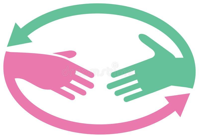 Cooperation logo stock illustration