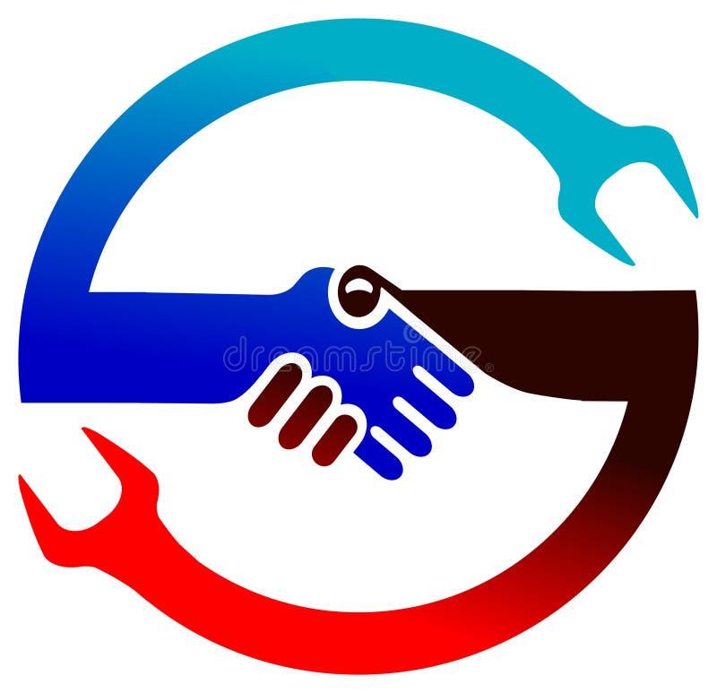 Cooperation logo royalty free illustration
