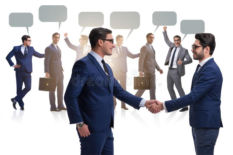The cooperationa and teamwork concept with handshake royalty free stock photos