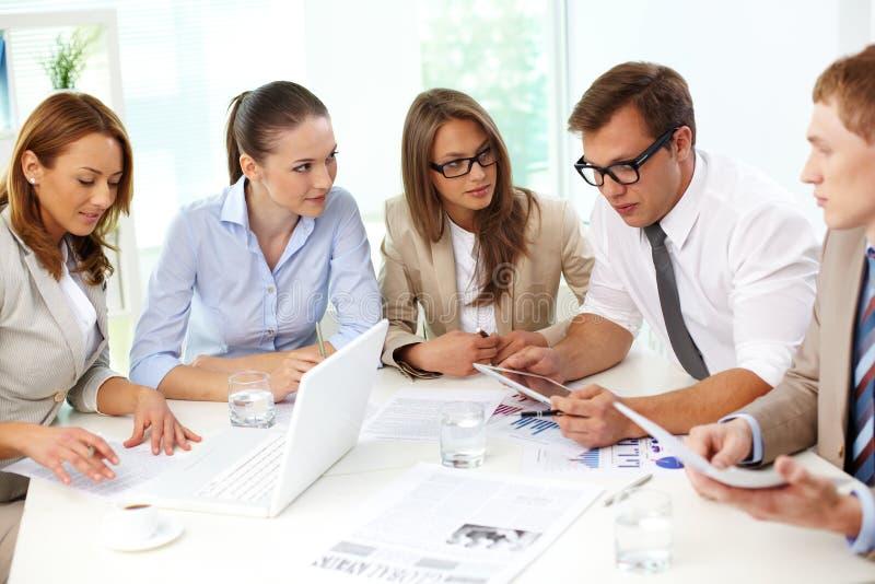 Cooperative colleagues stock photos