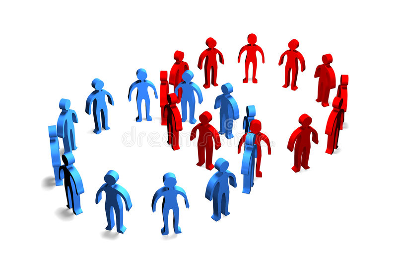 Cooperazione delle persone di affari illustrazione di stock