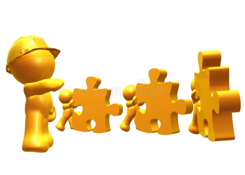 Cooperazione per la soluzione illustrazione di stock