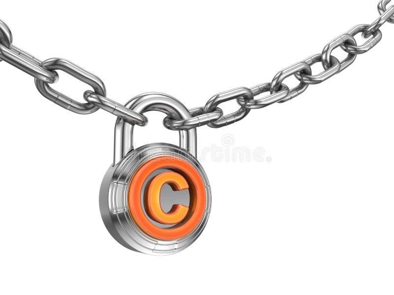 coopyright锁定 向量例证
