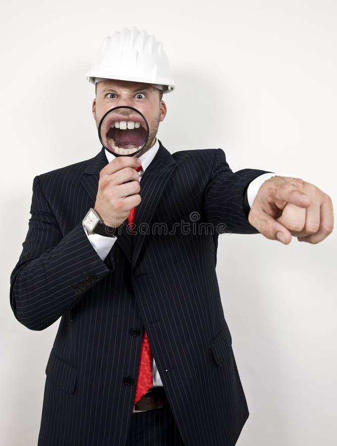 Coordenador com boca ampliada foto de stock royalty free