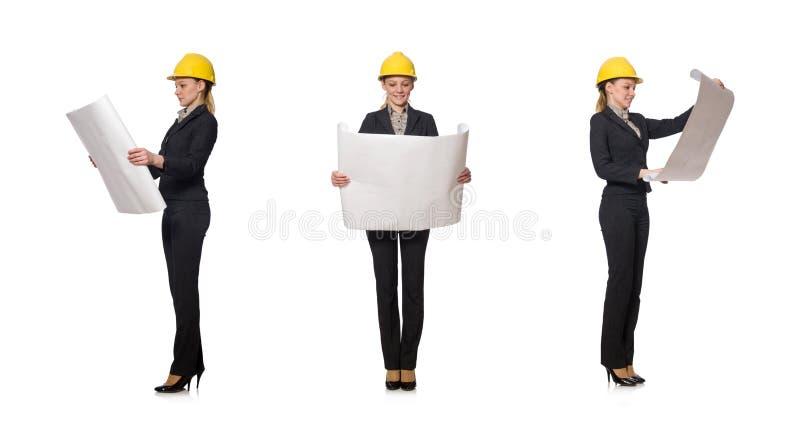 Coordenador da mulher com projetos foto de stock royalty free