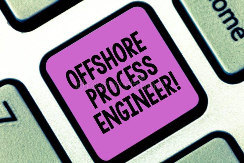Coordenador de processo a pouca distância do mar do texto da escrita da palavra Conceito do negócio para o responsável para a cha fotos de stock