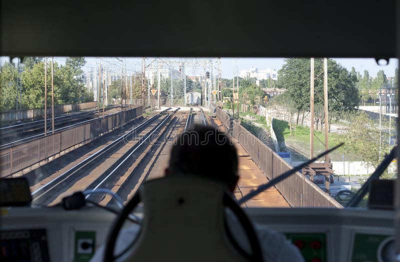 Coordenador do trem fotografia de stock