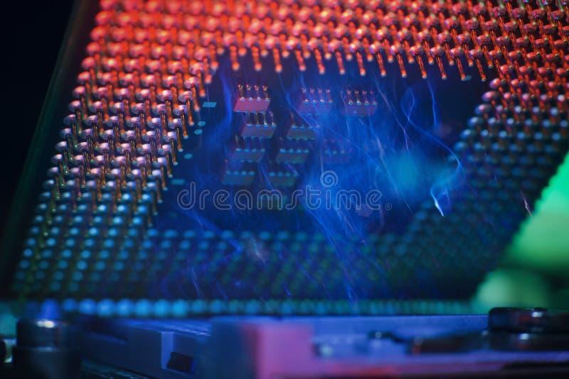 Coordenador eletrônico da tecnologia do processador central do computador imagem de stock royalty free