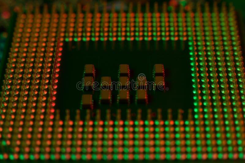 Coordenador eletrônico da tecnologia do processador central do computador fotos de stock