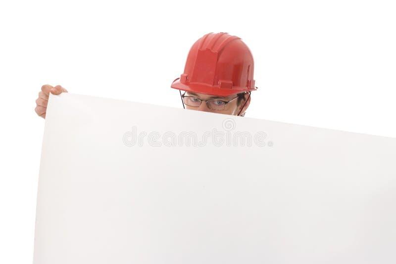 Coordenador, mostrando um Livro Branco imagens de stock