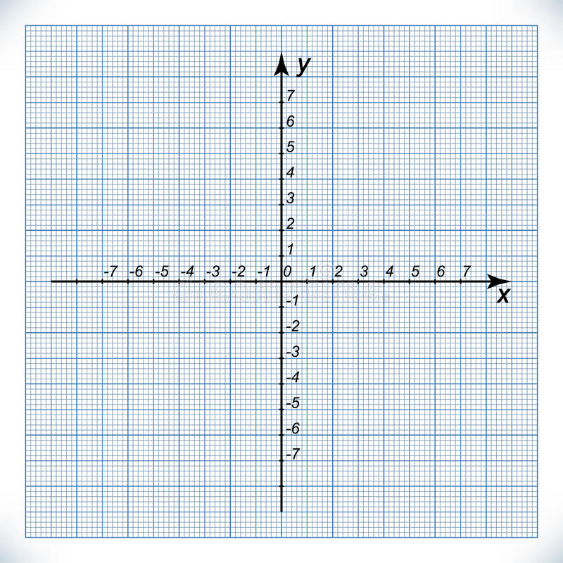 Coordinate Axis On The Graph Paper Stock Vector  Illustration Of