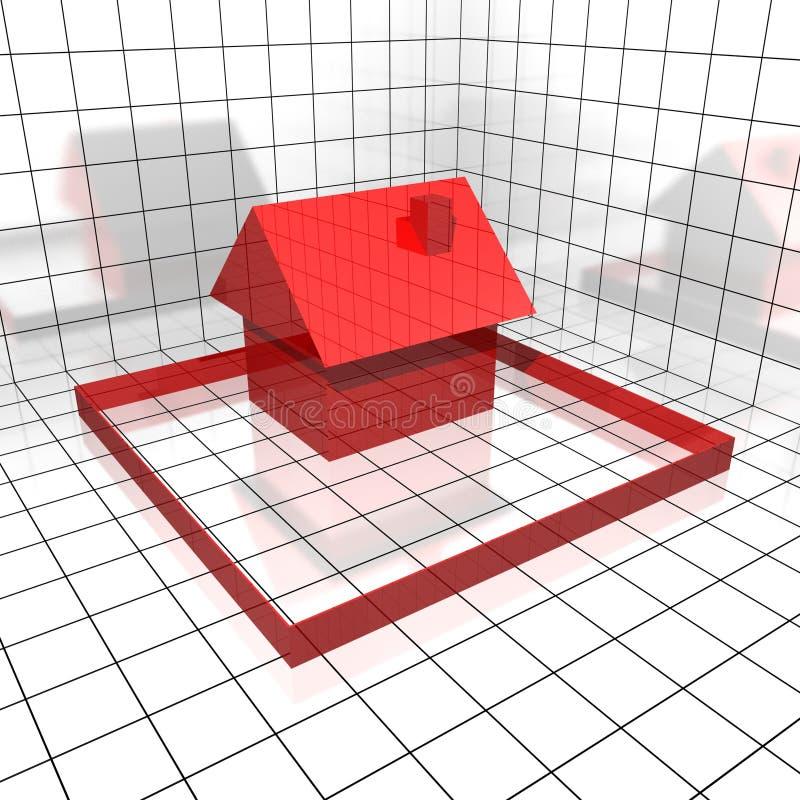 coordinate hus vektor illustrationer