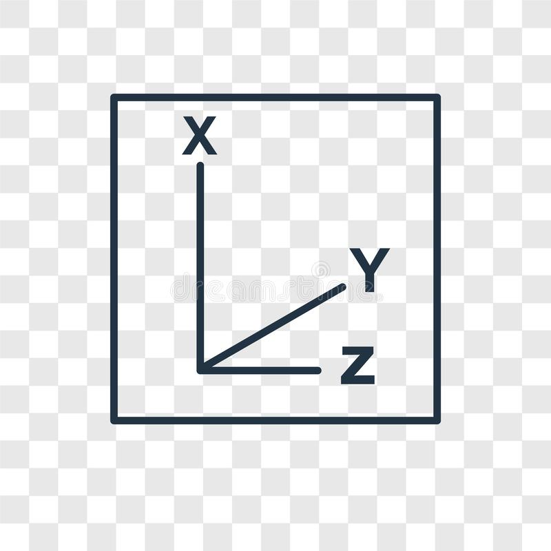 Coordinates concept vector linear icon isolated on transparent b stock illustration