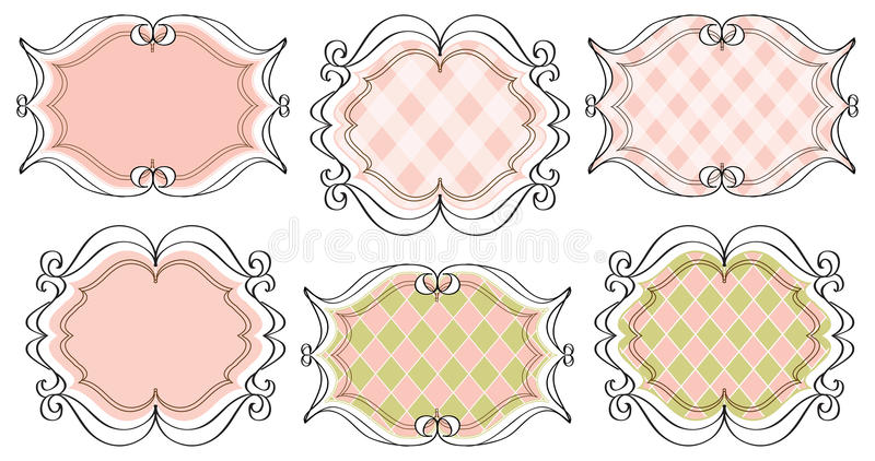 Download Coordinating frames stock vector. Image of calligraphy - 15827427