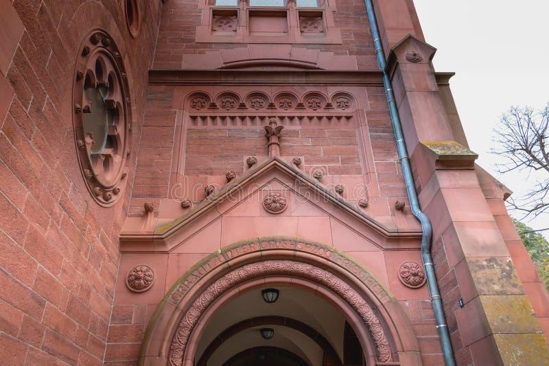 Coordonnée architecturale de l'évangéliste Kirche Paul Church images stock