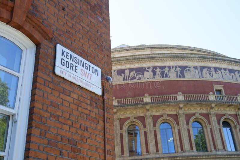 Coordonnée d'Albert Hall royal photographie stock