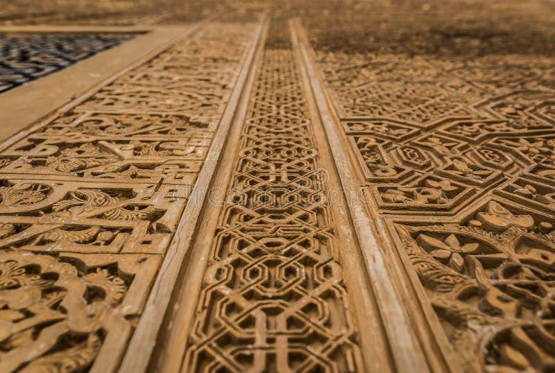 Coordonnée d'Alhambra Palace à Grenade, Andalousie, Espagne photos libres de droits