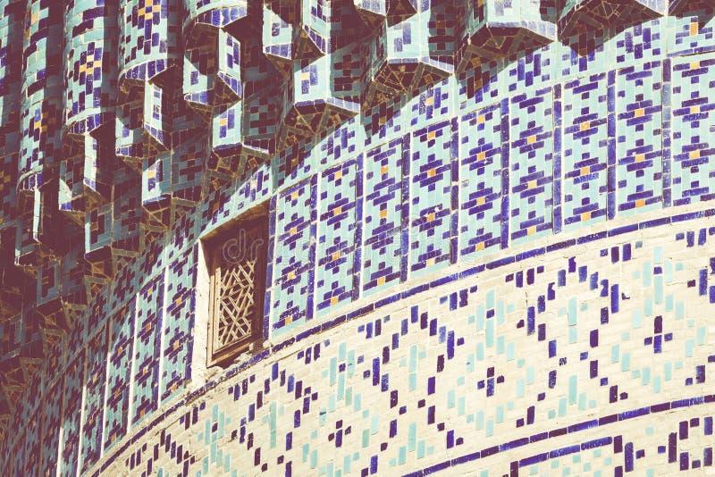 Coordonnée de Gur-E Amir Mausoleum, la tombe du conquérant asiatique image libre de droits