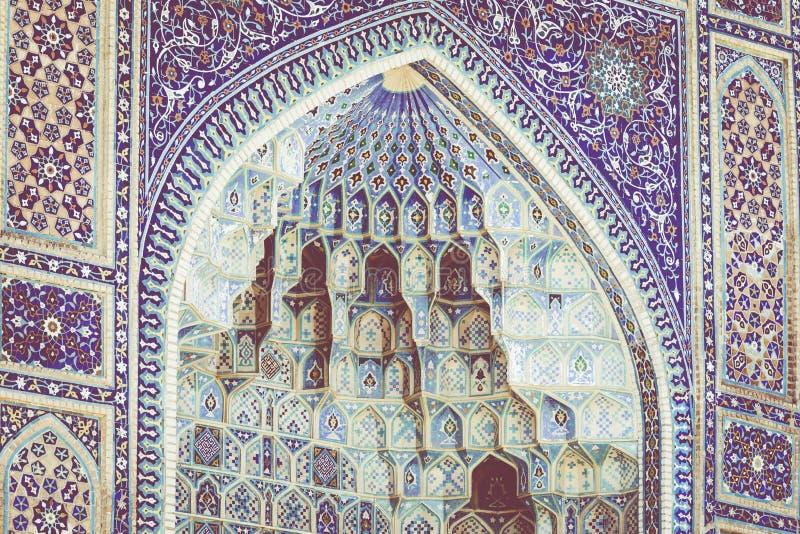 Coordonnée de Gur-E Amir Mausoleum, la tombe du conquérant asiatique photographie stock