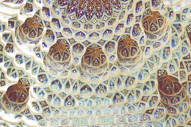 Coordonnée de Gur-E Amir Mausoleum, la tombe du conquérant asiatique photographie stock libre de droits