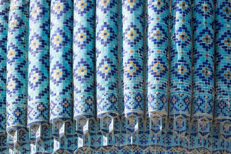 Coordonnée de Gur-E Amir Mausoleum, la tombe du conquérant asiatique photos libres de droits