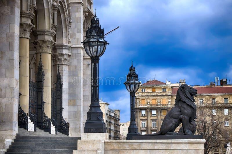 Coordonnée du Parlement de Budapest photo stock