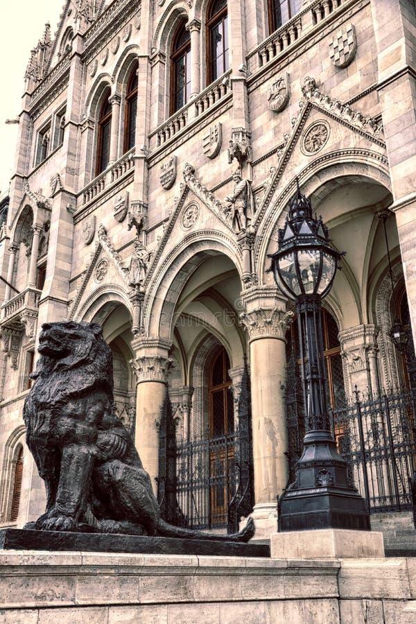 Coordonnée du Parlement de Budapest image libre de droits
