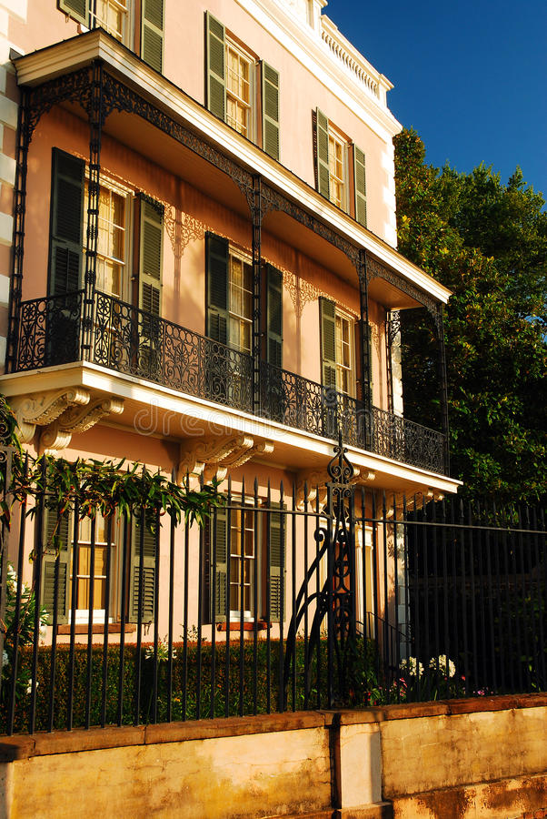 Coordonnées d'Edmond Alston Hosue, Charleston images stock