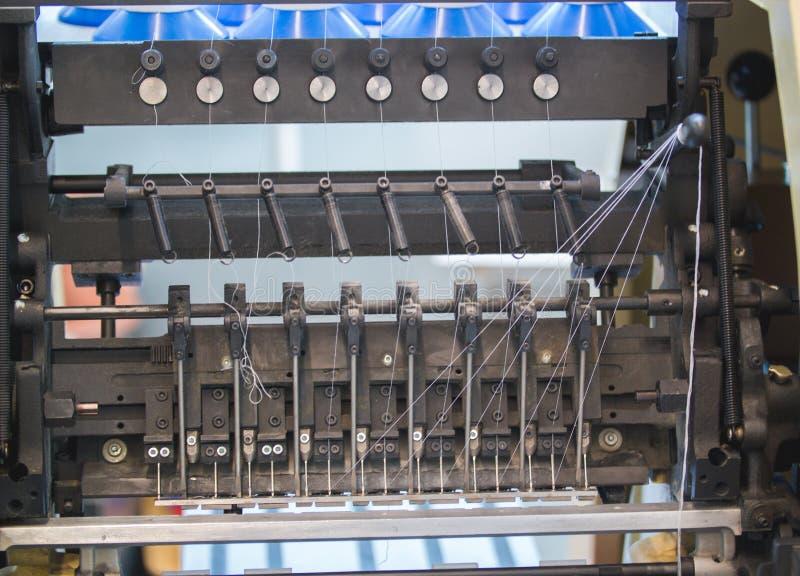 Coordonnées des pièces de rechange de la machine d'impression dans la typographie images stock