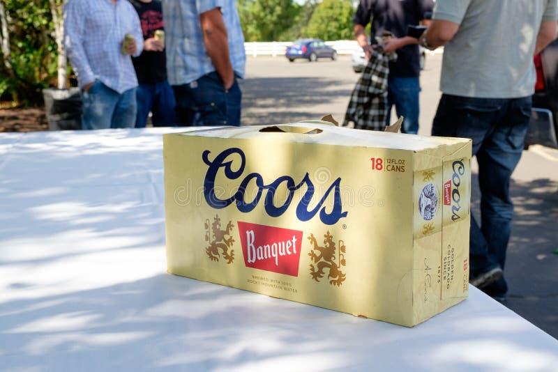 Coors-Bankett-Bier an der Hochzeit lizenzfreies stockbild