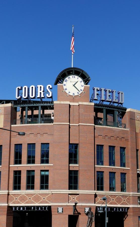 Coors-Feld lizenzfreie stockfotos
