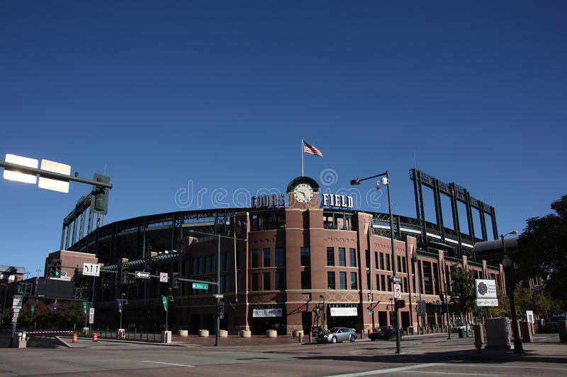 Coors Field - Colorado Rockies. Long view of mile high Coors Field, Colorado Rockies ballpark in Denver royalty free stock image
