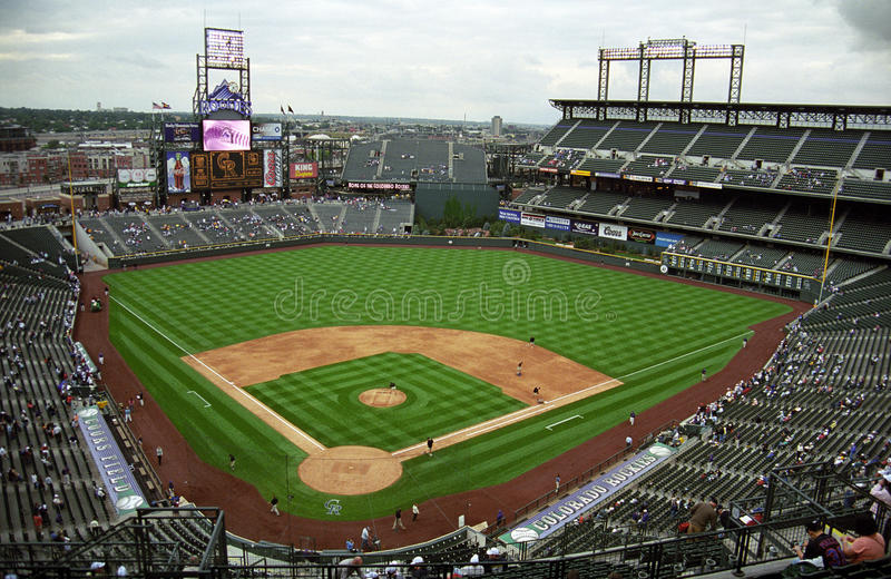 Coors Field - Colorado Rockies. Coors Field, home baseball stadium of the Colorado Rockies stock photography