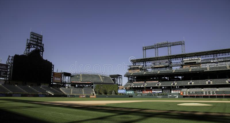 Coors Field, Home of the Colorado Rockies. As of September 26, 2018, the Colorado Rockies Major League baseball team is in contention for a Wild Card spot in the stock photography