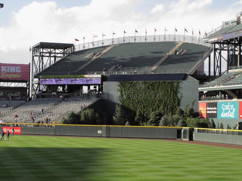 Coors Field Rock Pile - Colorado Rockies. Rock Pile section of Coors Field, Denver downtown ballpark of Colorado Rockies royalty free stock image