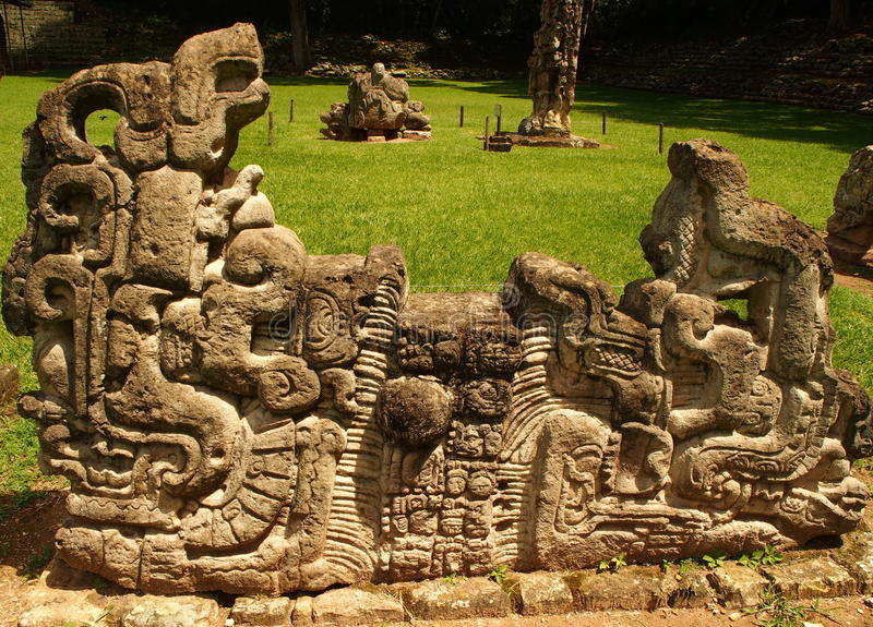 Copán - Honduras. Archaeological park Copán - Honduras stock photo