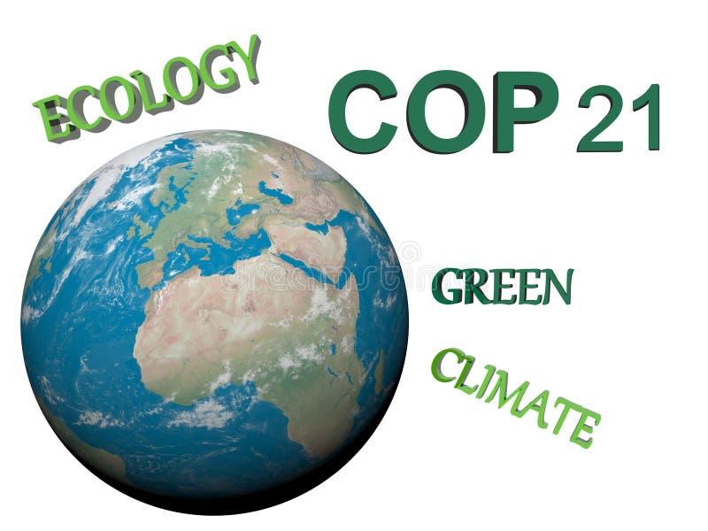 COP21 à Paris - 3d rendent illustration de vecteur