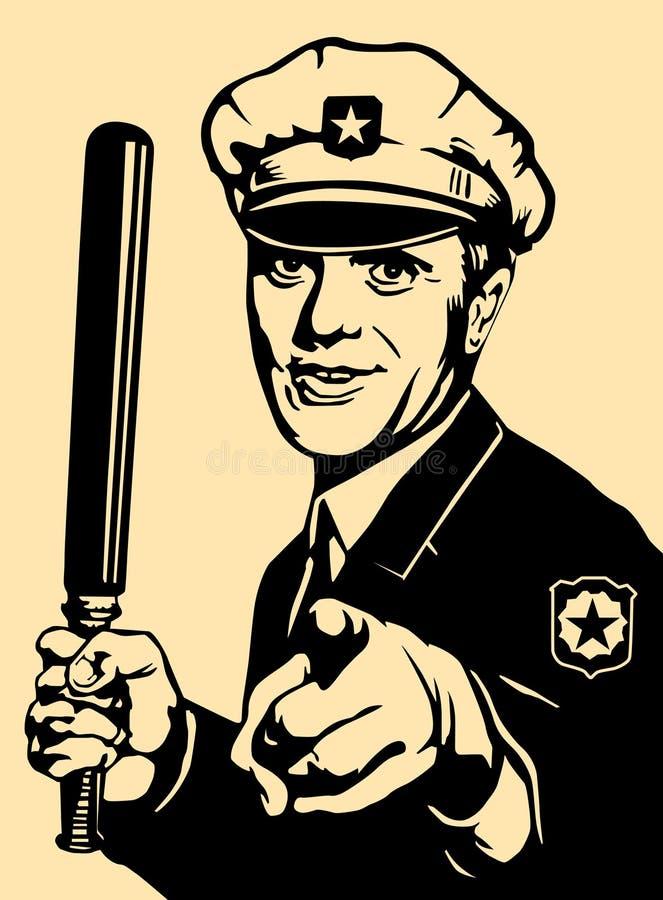 Cop vector illustratie