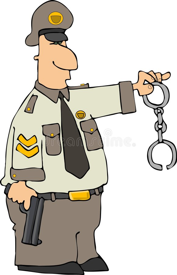 Cop With Cuffs vector illustration