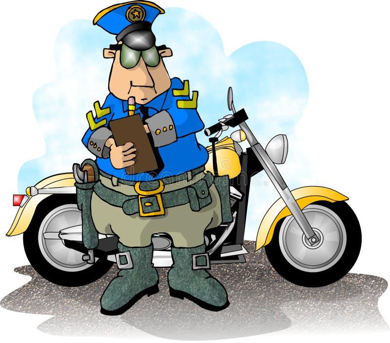 Cop de moto illustration stock