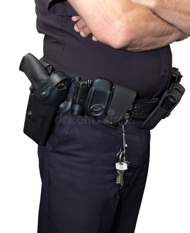 Download Cop Policeman Security Guard Gun Holster Isolated Stock Photo - Image: 15398736
