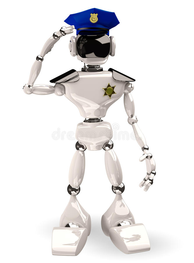 Download Cop robot stock illustration. Image of character, isolated - 35034822