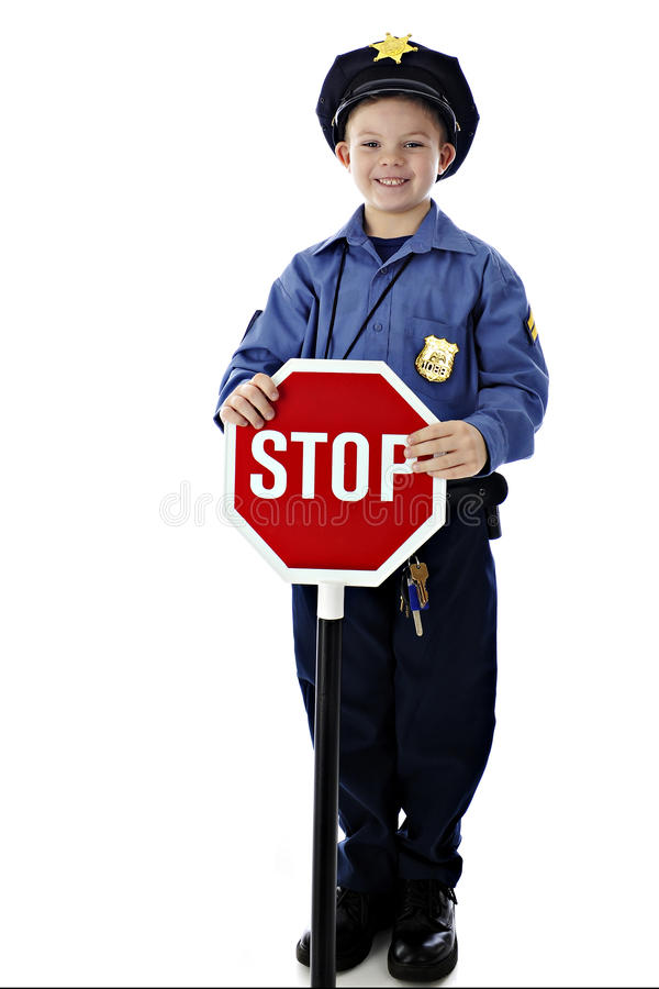 Cop Stop royalty free stock image