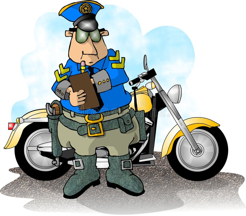 Cop van de motorfiets stock illustratie