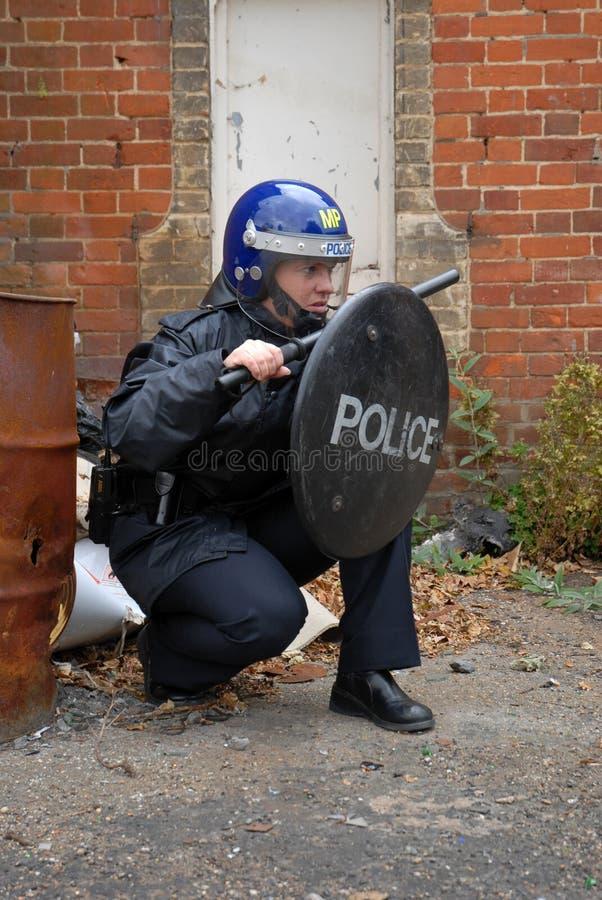 Cop van de rel royalty-vrije stock afbeeldingen
