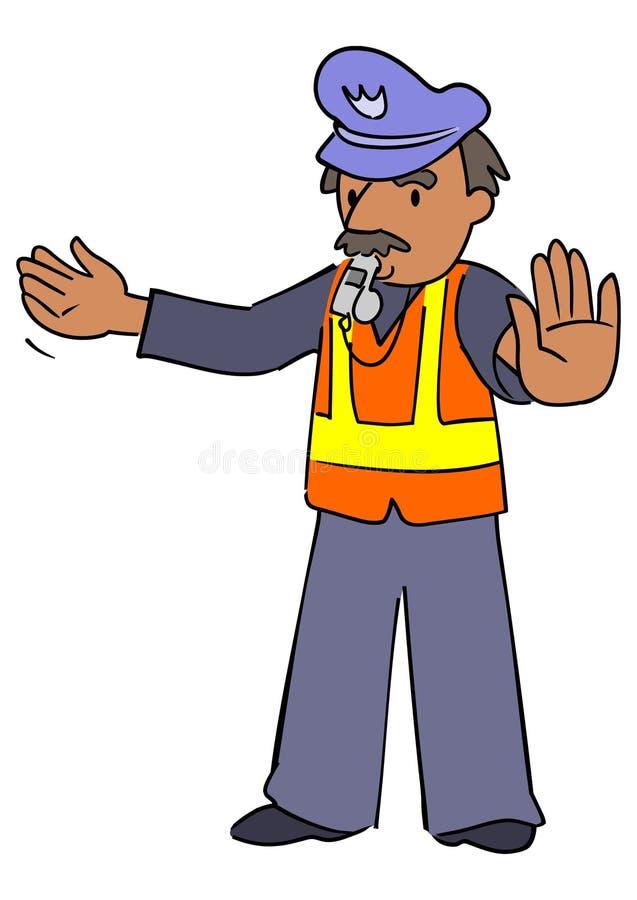 Cop van het verkeer royalty-vrije illustratie