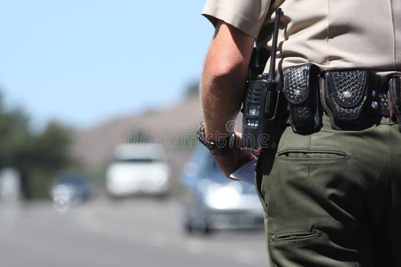 Cop van het verkeer stock foto