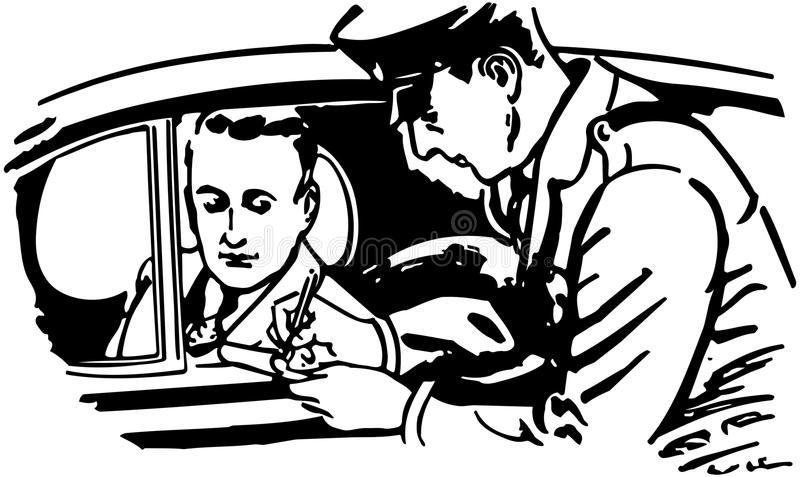 Cop Writing Ticket royalty free illustration