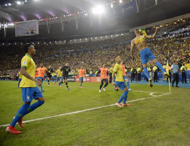 Copa美国巴西2019年 免版税库存照片